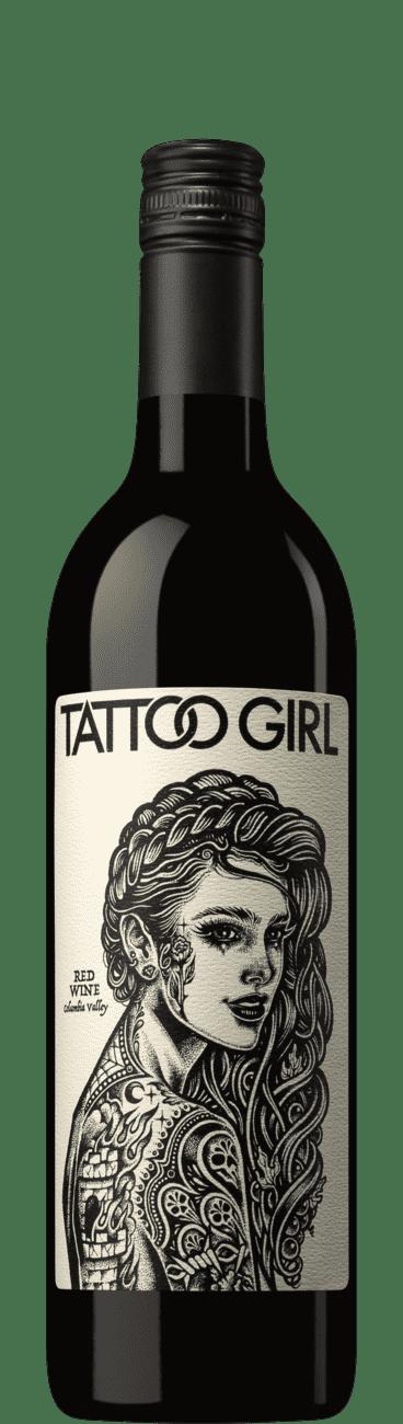 Tattoo Girl Red Wine