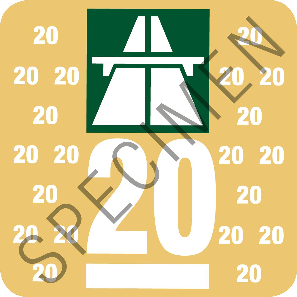 Schweizer Autobahnvignette 2020